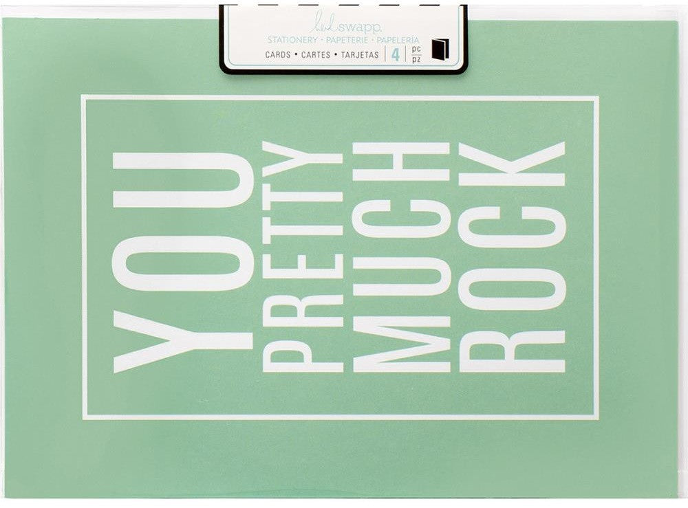 Heidi Swapp - Stationery A7 Cards - You Pretty Much Rock
