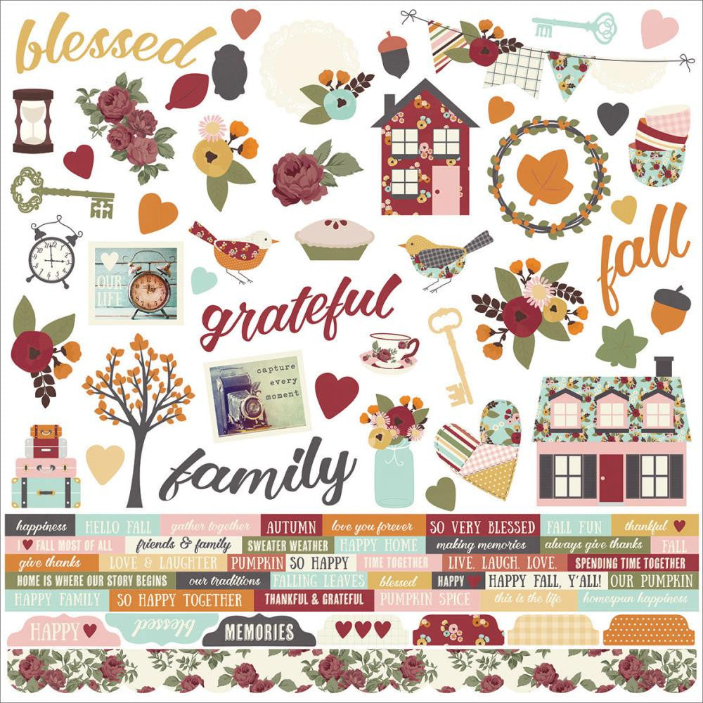 Simple Stories - Vintage Blessings Cardstock Stickers - Combo