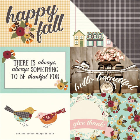 "Simple Stories - Vintage Blessings Double-Sided Cardstock - 4"" x 6"" Horizontal Elements"