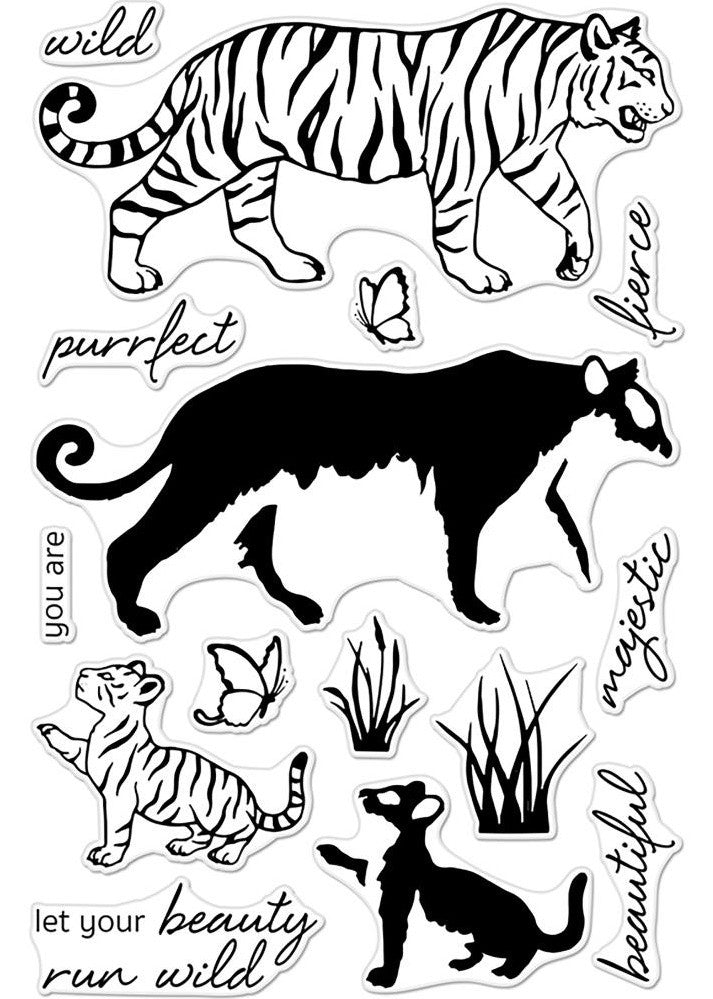 "Hero Arts - Clear Stamps 4"" x 6"" - Color Layering Bengal Tigers"