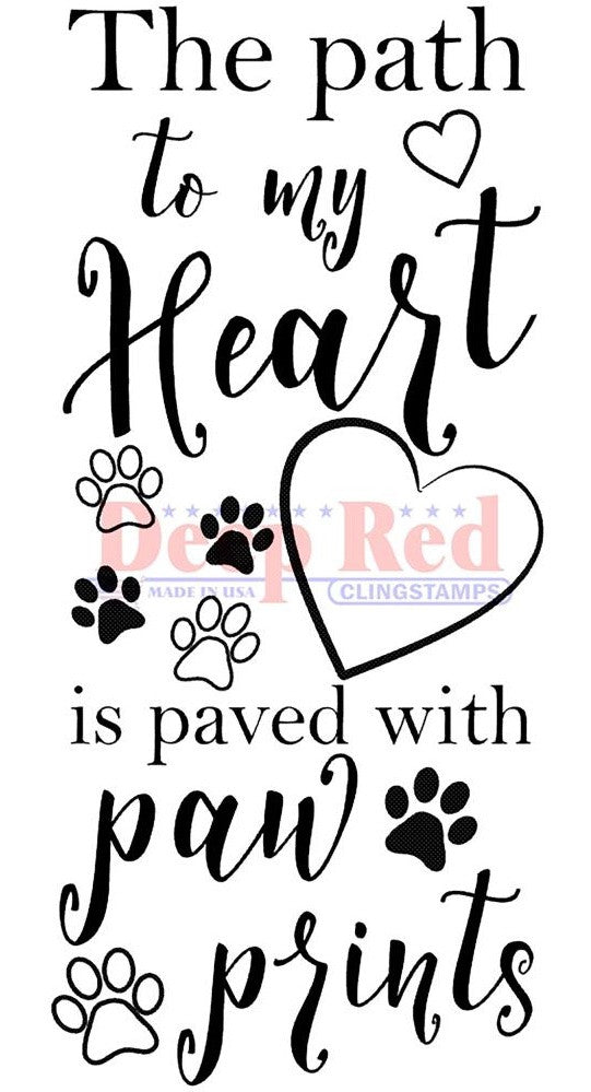 Deep Red Stamps - Cling Stamps - Paw Path