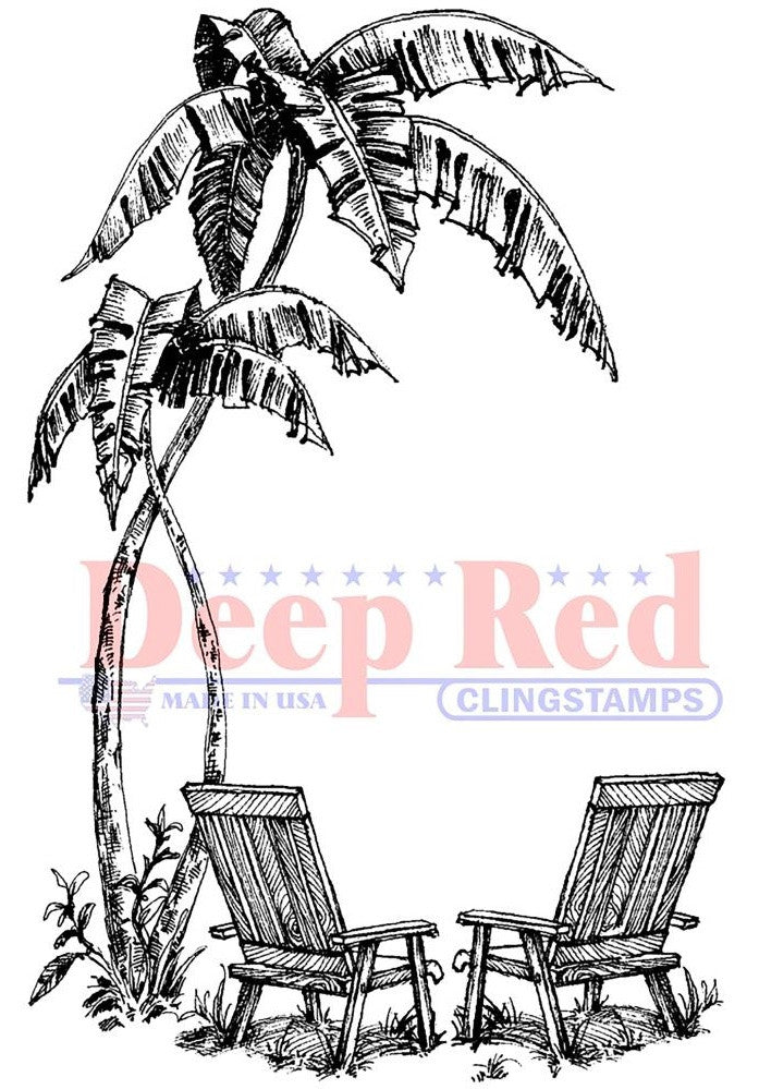 Deep Red Stamps - Cling Stamps - Seaside