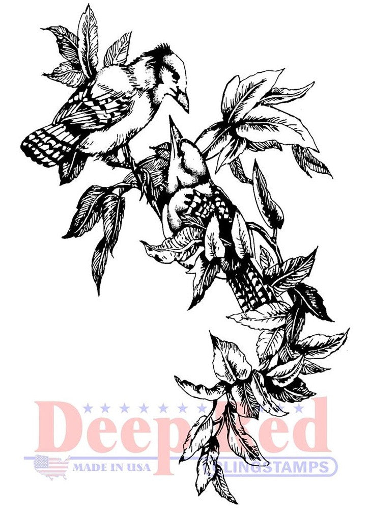 Deep Red Stamps - Cling Stamps - Blue Jays