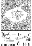 My Sentiments Exactly Ltd. - Clear Stamps - Coloring Frame