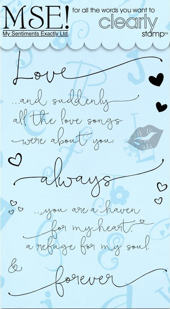 My Sentiments Exactly Ltd. - Clear Stamps - Love Cards Innies & Outies