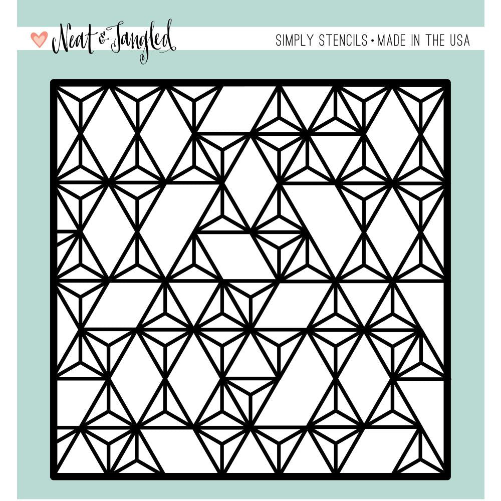 MODERN TRIANGLES - SIMPLY STENCIL