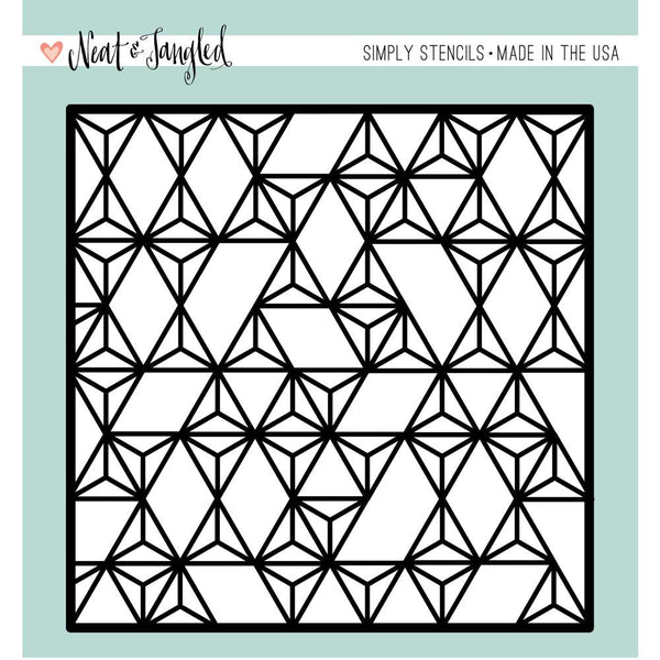 Neat & Tangled Modern Triangles Stencil