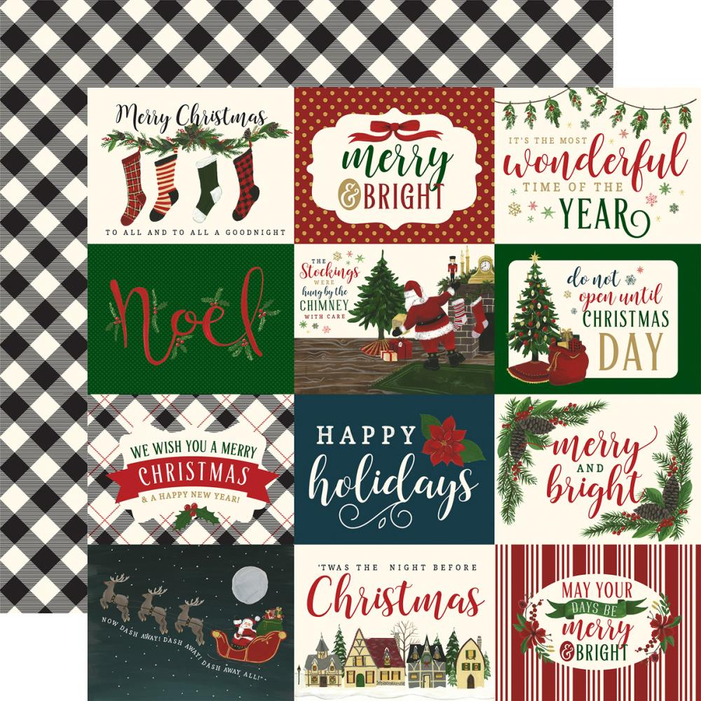 "Echo Park Paper - 'Twas The Night Before Christmas Double-Sided Cardstock - 3""x4"" Horizontal Journaling Cards"