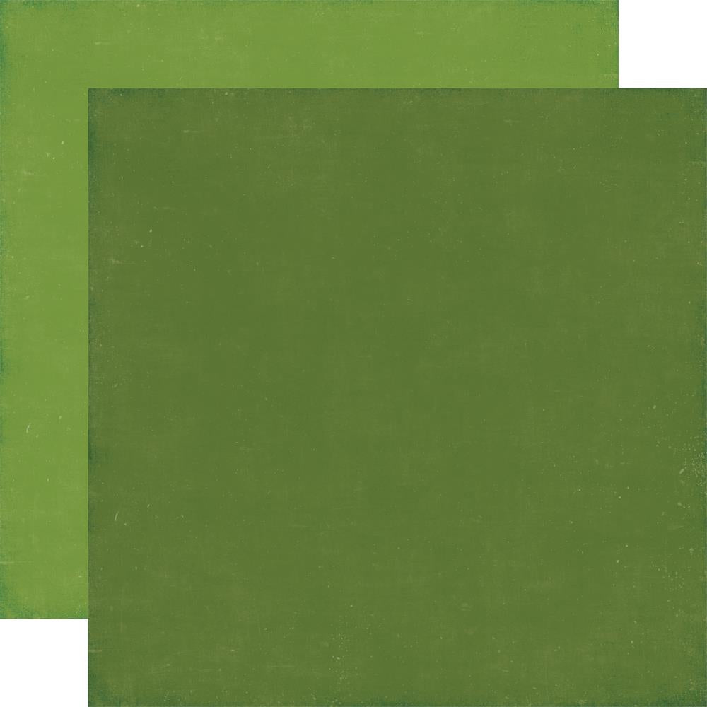 Echo Park Paper - A Perfect Christmas Double-Sided Cardstock - Dark Green/Light Green Solid
