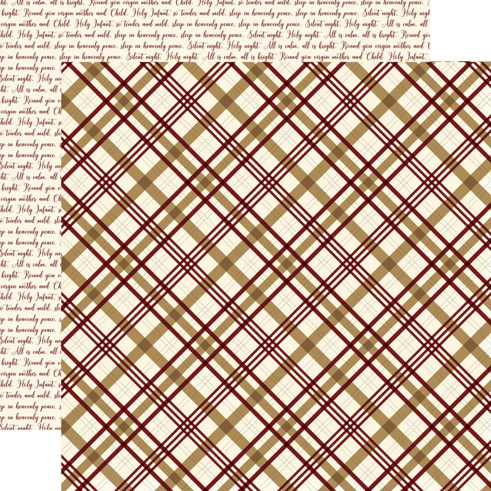 Echo Park Paper - Wise Men Still Seek Him Double-Sided Cardstock - Peaceful Plaid