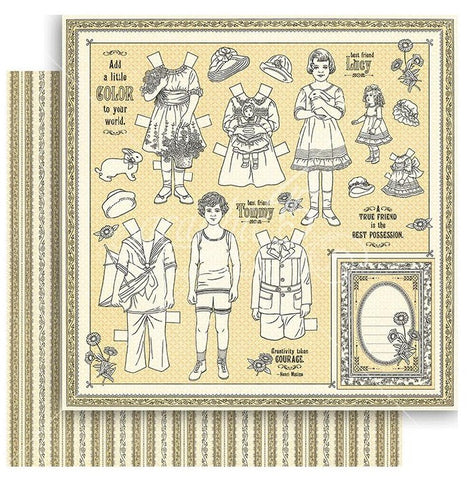 Graphic 45 - Penny's Paper Doll Double-Sided Cardstock - Color Your World
