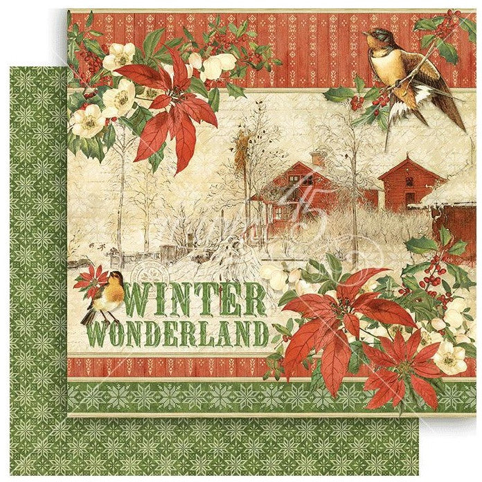 Graphic 45 - Winter Wonderland Double-Sided Cardstock - Winter Wonderland