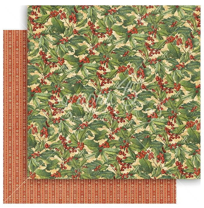 Graphic 45 - Winter Wonderland Double-Sided Cardstock - Holly Berries