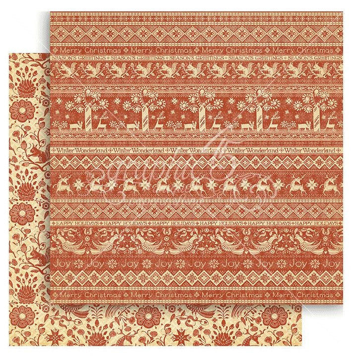 Graphic 45 - Winter Wonderland Double-Sided Cardstock - Scandinavian Sampler