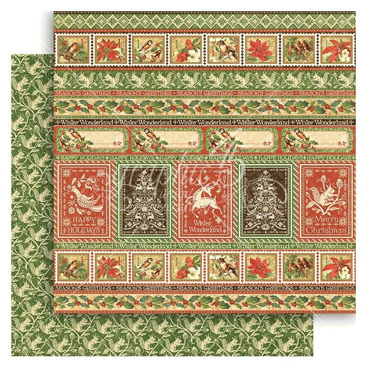 Graphic 45 - Winter Wonderland Double-Sided Cardstock - Nordic Greetings