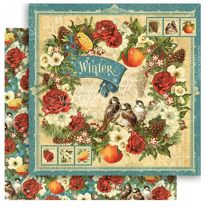 Graphic 45 - Seasons Double-Sided Cardstock - Winter
