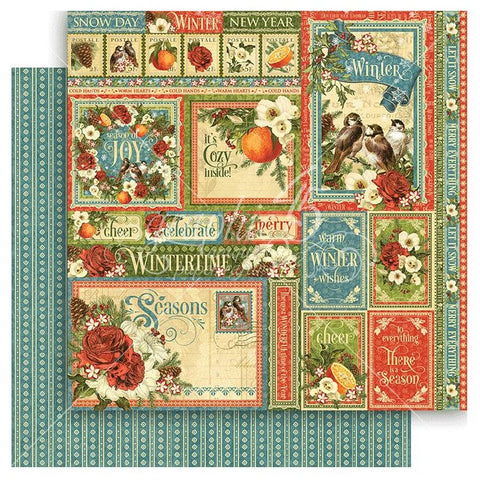 Graphic 45 - Seasons Double-Sided Cardstock - Winter Collective