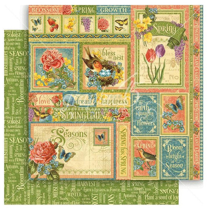 Graphic 45 - Seasons Double-Sided Cardstock - Spring Collective