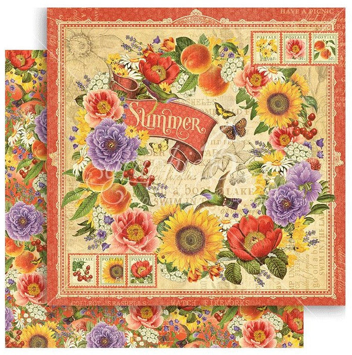Graphic 45 - Seasons Double-Sided Cardstock - Summer