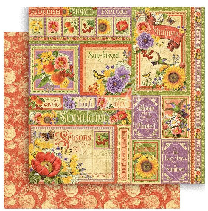 Graphic 45 - Seasons Double-Sided Cardstock - Summer Collective