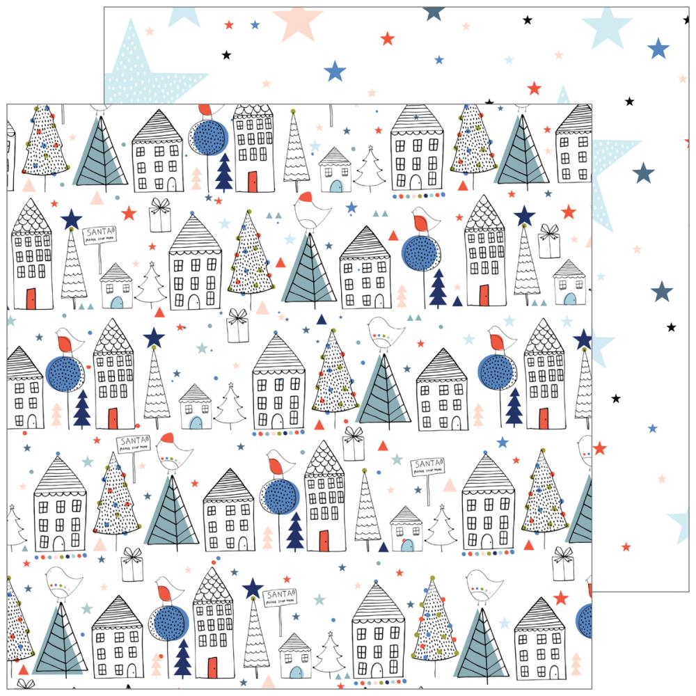 "Pinkfresh Studio - December Days Double-Sided Cardstock 12""X12"" Starry Night"