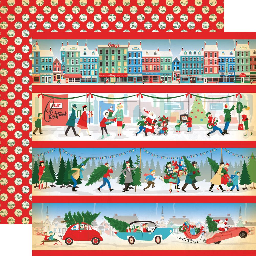 Carta Bella - A Very Merry Christmas Double-Sided Cardstock - Border Stripes