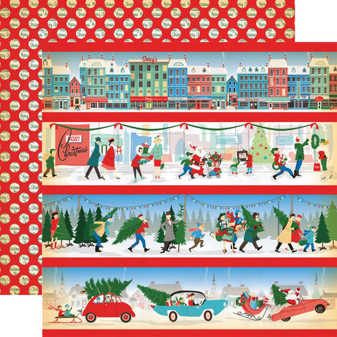 ***Pre-Order*** Carta Bella - A Very Merry Christmas Double-Sided Cardstock - Border Stripes