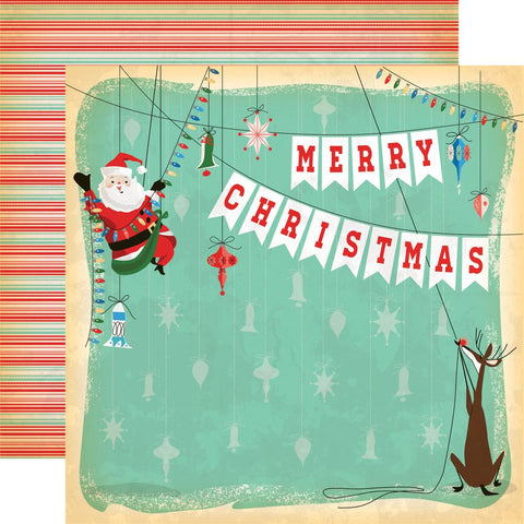 ***Pre-Order*** Carta Bella - A Very Merry Christmas Double-Sided Cardstock - Merry Christmas