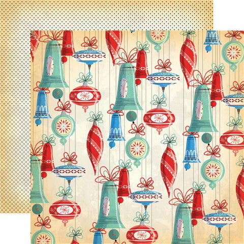 ***Pre-Order*** Carta Bella - A Very Merry Christmas Double-Sided Cardstock - Christmas Bells