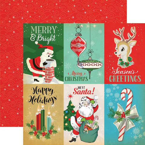 "Carta Bella - A Very Merry Christmas Double-Sided Cardstock - 4"" x 6"" Journaling Cards"