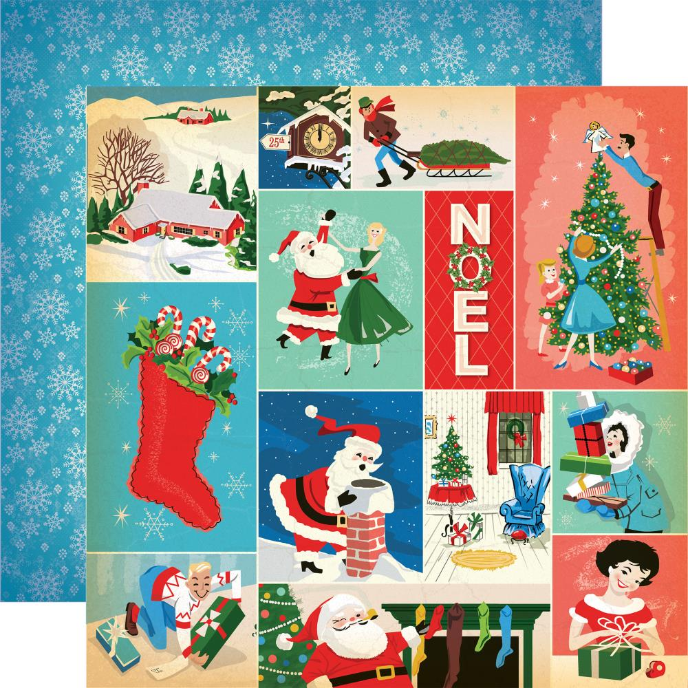 Carta Bella - A Very Merry Christmas Double-Sided Cardstock - Christmas Festivities Journaling Cards