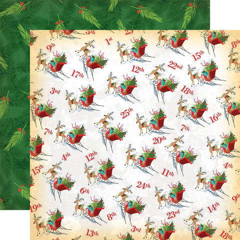 ***Pre-Order*** Carta Bella - A Very Merry Christmas Double-Sided Cardstock - Christmas Countdown