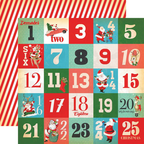 ***Pre-Order*** Carta Bella - A Very Merry Christmas Double-Sided Cardstock - Days Of Christmas Journaling Cards