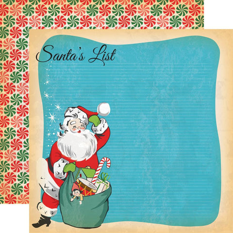 ***Pre-Order*** Carta Bella - A Very Merry Christmas Double-Sided Cardstock - Santa's List
