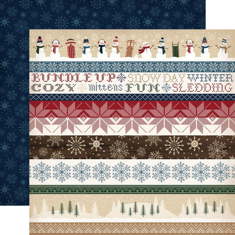 ***Pre-Order*** Carta Bella - Cabin Fever Double-Sided Cardstock - Border Strips