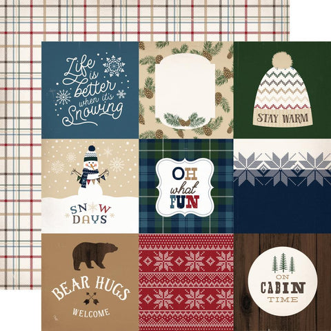 "***Pre-Order*** Carta Bella - Cabin Fever Double-Sided Cardstock - 4"" x 4"" Journaling Cards"