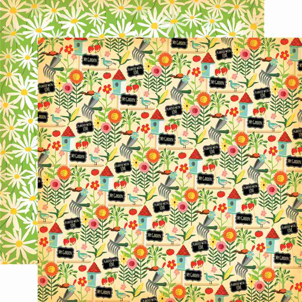 Carta Bella - Country Kitchen Double-Sided Cardstock - My Garden
