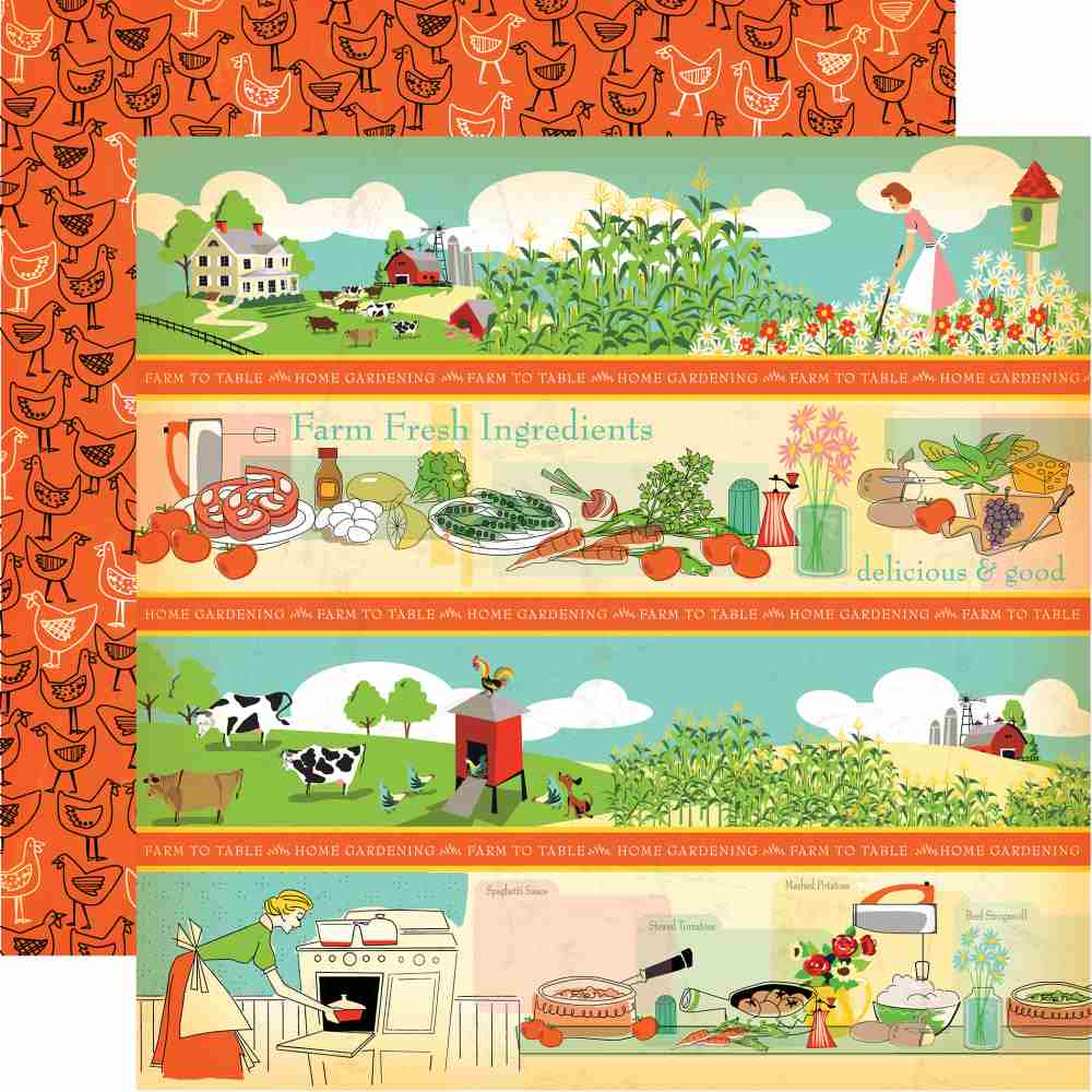 Carta Bella - Country Kitchen Double-Sided Cardstock - Border Strips