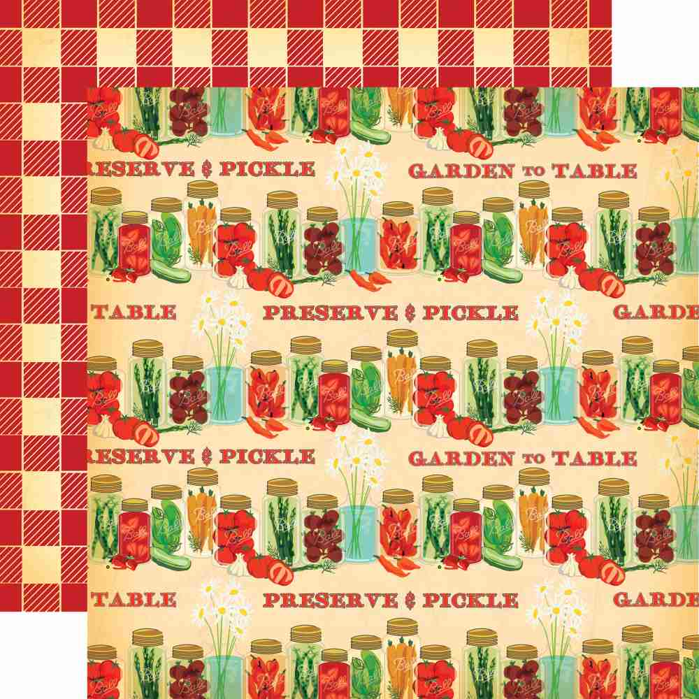 Carta Bella - Country Kitchen Double-Sided Cardstock - Preserve & Pickle