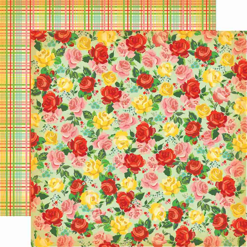 Carta Bella - Country Kitchen Double-Sided Cardstock - Rose Garden