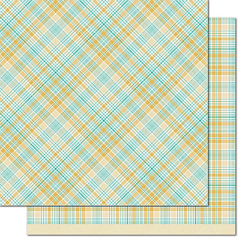 Lawn Fawn - Perfectly Plaid Chill Double-Sided Cardstock - Vaycay