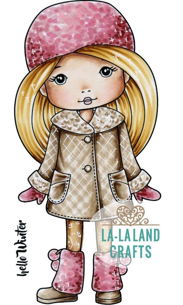 La-La Land Crafts - Cling Stamps - Winter Molli