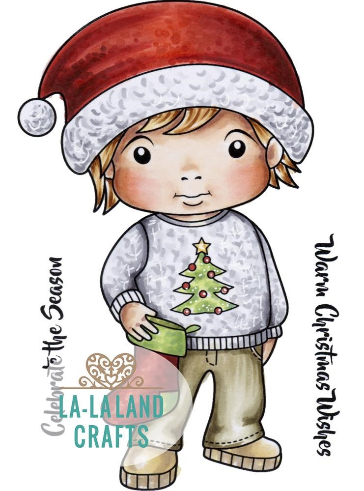 La-La Land Crafts - Cling Stamps - Christmas Sweater Luka