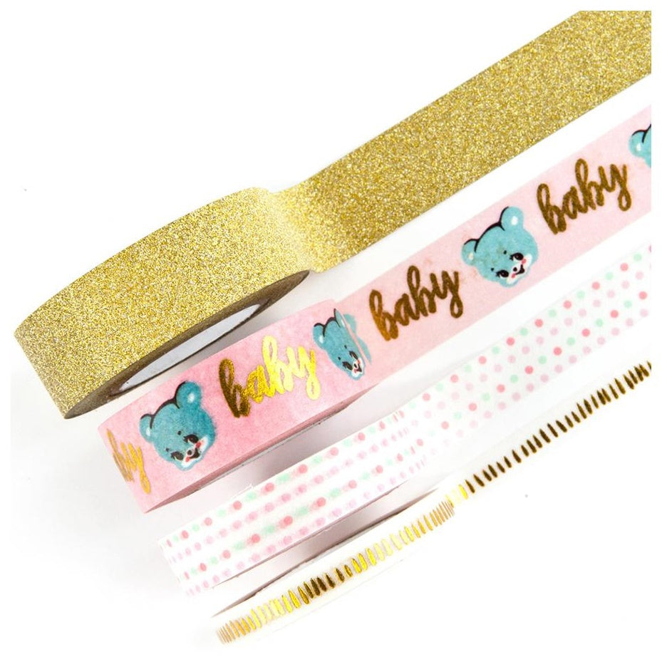Prima Marketing - Heaven Sent 2 Decorative Tapes - Washi & Glitter