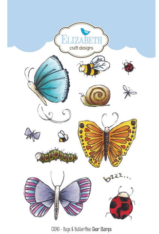 Elizabeth Craft Designs - Clear Stamps - Bugs & Butterflies