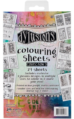 Dyan Reaveley's Dylusions - Colouring Sheets - Collection 3