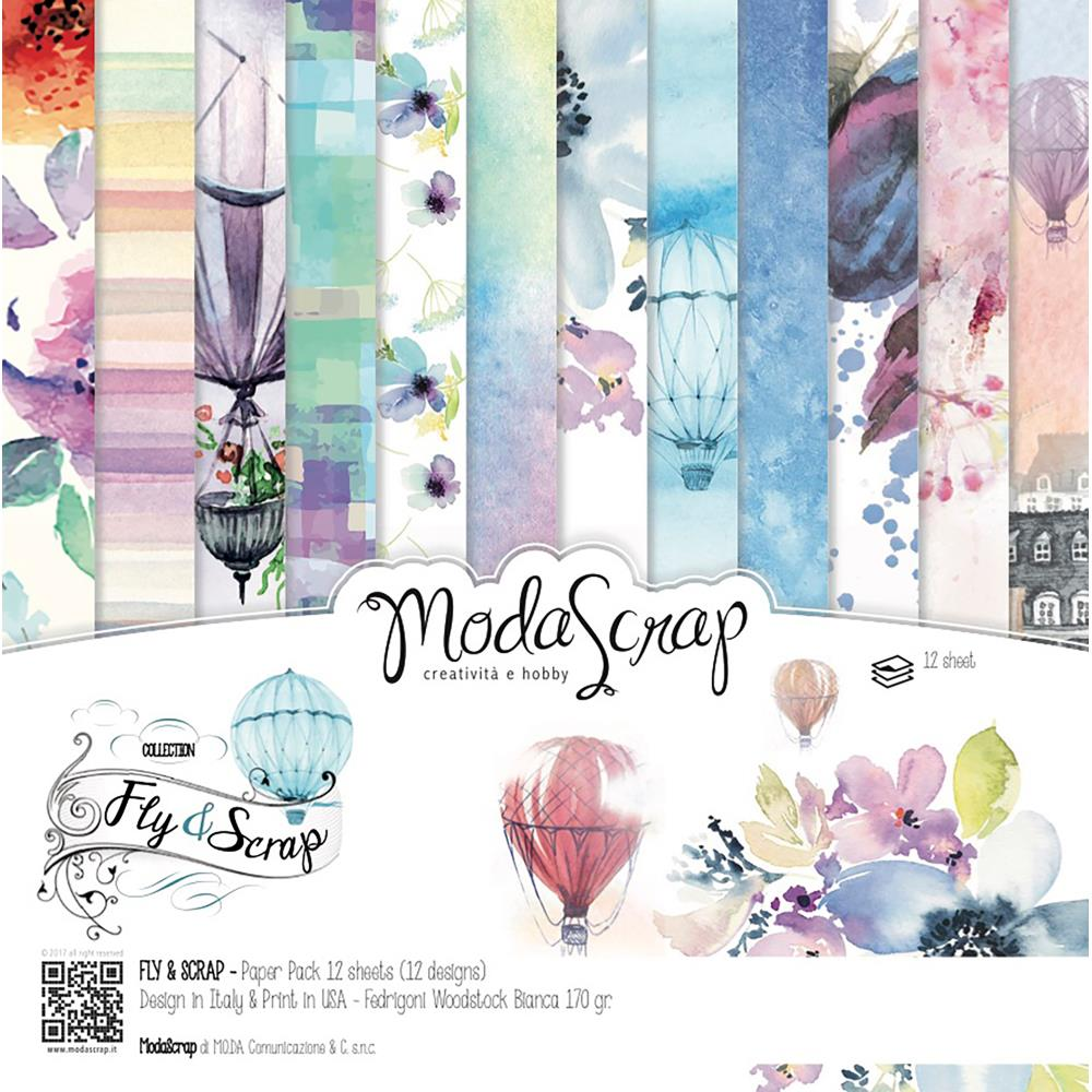 "Elizabeth Craft Designs - ModaScrap Paper Pack 12"" x 12"" - Fly & Scrap"