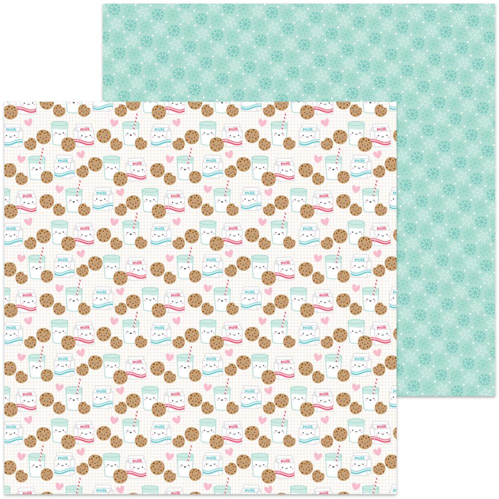 Doodlebug - Milk & Cookies Double-Sided Cardstock - Milk & Cookies