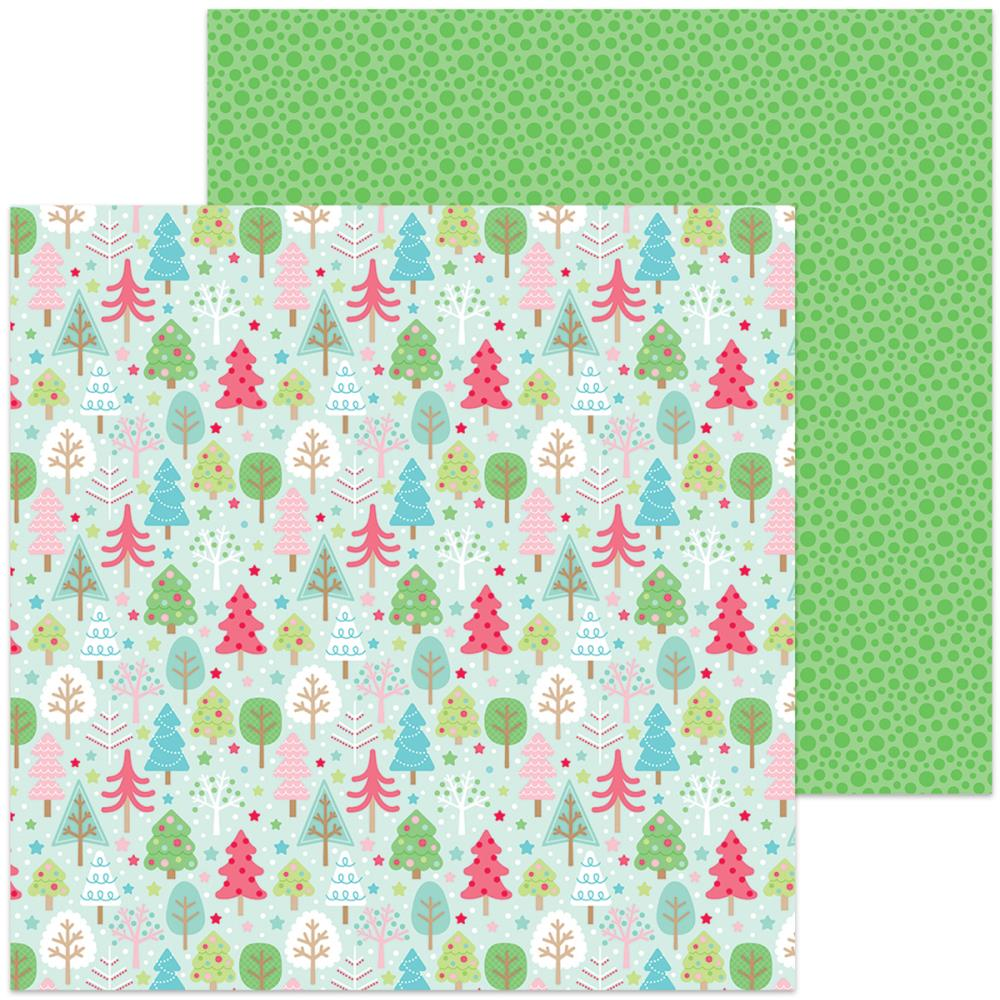 Doodlebug - Milk & Cookies Double-Sided Cardstock - Tree Festival