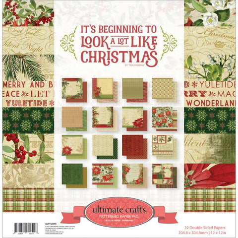"Ultimate Crafts - Patterned Paper Pad - 12"" x 12"" Beginning To Look A Lot Like Christmas"